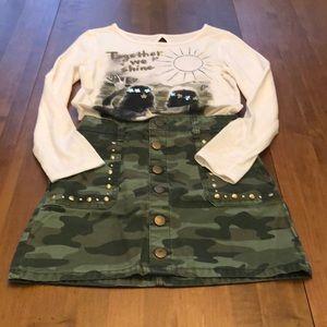 Girl's camo skirt and match shirt